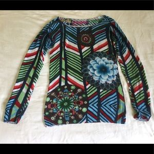 Lightweight Desigual sweater, M.  Colorful design